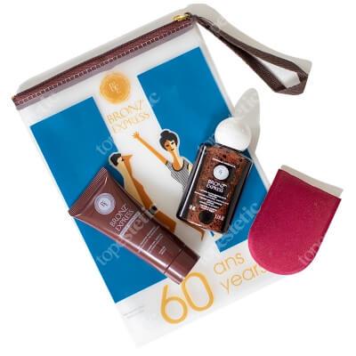 Academie Sun Pack ZESTAW Peeling pod prysznic 40 ml + Samoopalacz w płynie 50 ml + Mini rękawiczka 1 szt. + Kosmetyczka 1 szt.