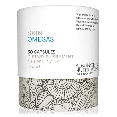 Advanced Nutrition Pr. Skin Omegas + Witamina A dla zdrowej skóry oraz omega 3 i 6, 60 kaps.