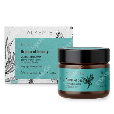 Alkemie Dream Of Beauty Wyciszająca nocna maska-krem 60 ml