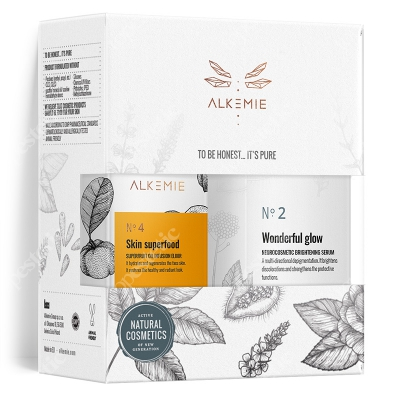 Alkemie Vitamine C Rules Set 2019 ZESTAW Serum rozjaśniające 30 ml + Multiwitaminowy olejek 15 ml