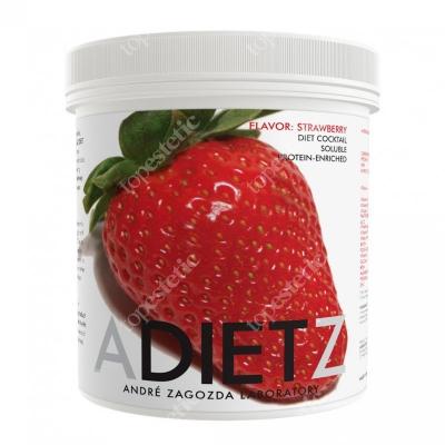 Andre Zagozda AZ Diet Cocktail Strawberry Koktajl o smaku truskawkowym, rozpuszczalny, wzbogacony proteinami 500 g