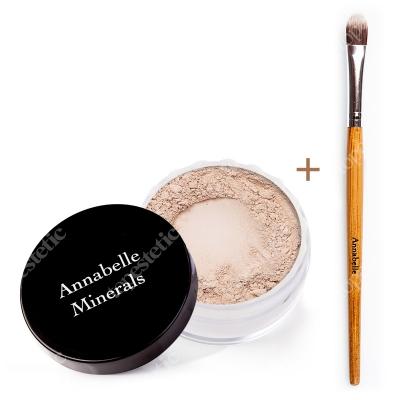 Annabelle Minerals Concealers Golden Cream + Pędzelek do Korektora ZESTAW Korektor mineralny (kolor Golden Cream) 4 g + Pędzelek do nakładania korektora mineralnego