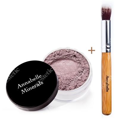 Annabelle Minerals Eyeshadows Cappuccino + Pędzelek Mini Kabuki ZESTAW Cień mineralny (kolor Cappuccino) 3 g + Pędzelek do nakładania sypkich cieni