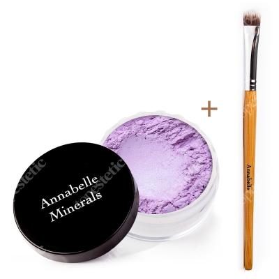 Annabelle Minerals Eyeshadows Lilac + Pędzelek Do Cieni ZESTAW Cień mineralny (kolor Lilac) 3 g + Pędzelek do nakładania cieni mineralnych