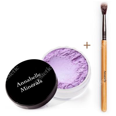 Annabelle Minerals Eyeshadows Lilac + Pędzelek ZESTAW Cień mineralny (kolor Lilac) 3 g + Pędzelek do łączenia cieni