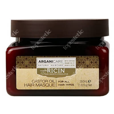 Arganicare Castor Oil Hair Masque Maska stymulująca porost włosów 350 ml