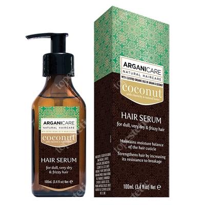 Arganicare Coconut Hair Serum Serum do bardzo suchych i zniszczonych włosów 100 ml