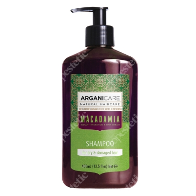 Arganicare Macadamia Shampoo Szampon do suchych i zniszczonych włosów 400 ml