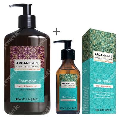 Arganicare Shampoo For Dry Hair + Hair Serum For Dry Hair ZESTAW Szampon z masłem Shea 400 ml + Serum do włosów suchych i zniszczonych 100 ml