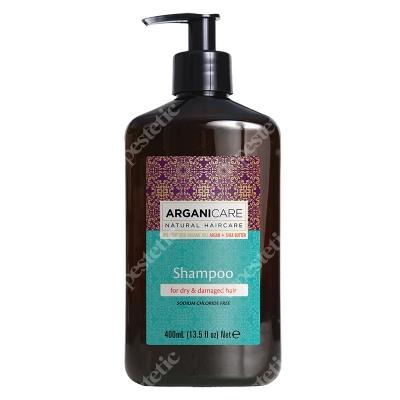 Arganicare Shampoo For Dry Hair Szampon do suchych i zniszczonych włosów z masłem Shea 400 ml