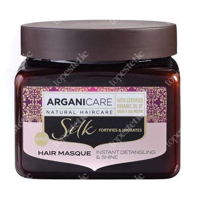 Arganicare Silk Hair Masque Maska rozplątująca włosy z jedwabiem 500 ml