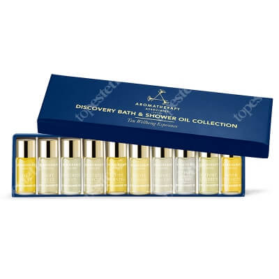 Aromatherapy Associates Discovery Bath & Shower Oils Collection ZESTAW Kolekcja 10 mini-olejków do kąpieli i pod prysznic 10 x 3 ml