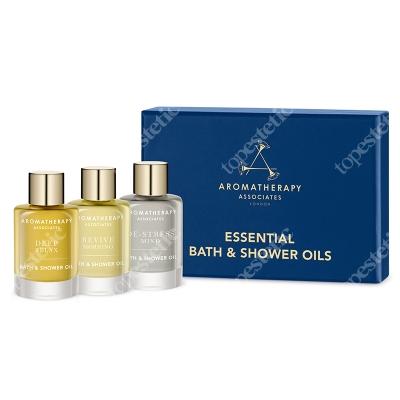 Aromatherapy Associates Essentials Bath & Shower Oils Trio ZESTAW 3 olejków do kąpieli i pod prysznic 3 x 9 ml