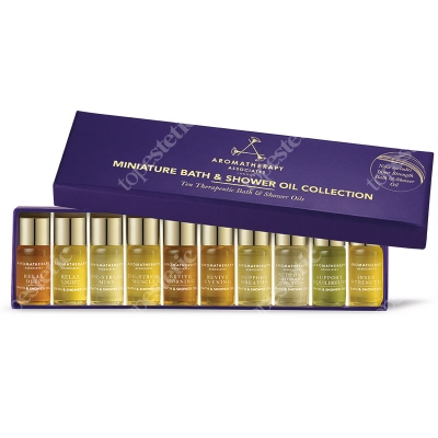 Aromatherapy Associates Miniature Bath & Shower Oils Collection ZESTAW Kolekcja 10 mini-olejków do kąpieli i pod prysznic 10 x 3 ml