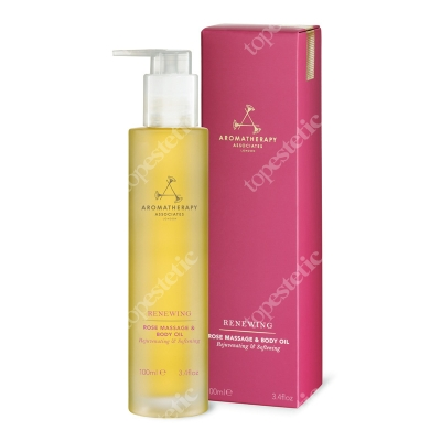 Aromatherapy Associates Renewing Rose Massage & Body Oil Luksusowy odżywczy olejek do ciała z róży 100 ml