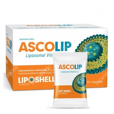 Ascolip Ascolip - Liposomal Vitamin C 1000 mg Wysokowydajna liposomalna witamina C, 30x5 g