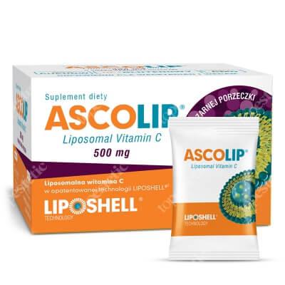 Ascolip Ascolip - Liposomal Vitamin C 500 mg Liposomalna witamina C 500 mg o smaku czarnej porzeczki 30 x 5g