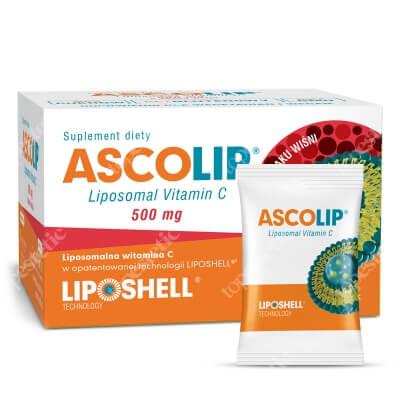 Ascolip Ascolip - Liposomal Vitamin C 500 mg Liposomalna witamina C 500 mg o smaku wiśni 30 x 5g