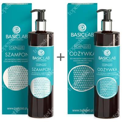 BasicLab Pielęgnacja Włosów Farbowanych ZESTAW Szampon do włosów farbowanych 300 ml + Odżywka do włosów farbowanych 300 ml