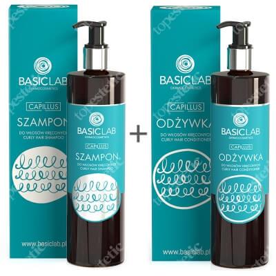 BasicLab Pielęgnacja Włosów Kręconych ZESTAW Szampon do włosów kręconych 300 ml + Odżywka do włosów kręconych 300 ml