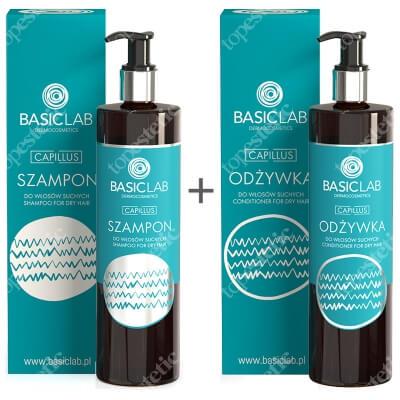 BasicLab Pielęgnacja Włosów Suchych ZESTAW Szampon do włosów suchych 300 ml + Odżywka do włosów suchych 300 ml