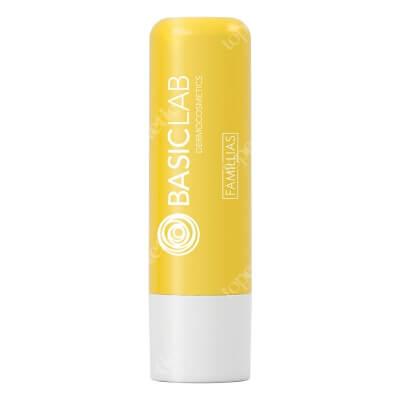 BasicLab Yellow Lipstick Nawilżająca pomadka do ust 4 g