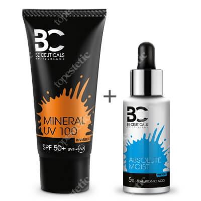 Be Ceuticals Absolute Moist H.A 5% + Mineral UV 100 SPF 50+ ZESTAW Absolutne nawilżenie - Kwas hialuronowy + Peptydy 30 ml + Krem mineralny z ochroną100 ml