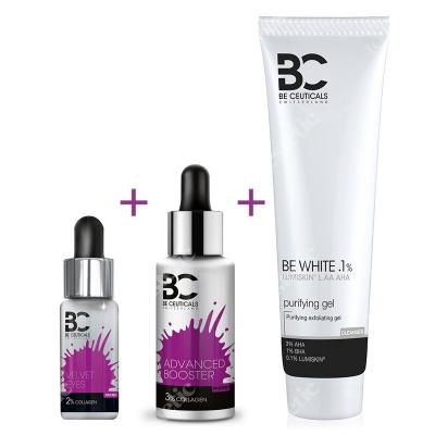 Be Ceuticals Anti Aging Set 2019 ZESTAW Kolagen i kwas hialuronowy 30 ml + Kolagen 15 ml + Peelingujący żel oczyszczający 150 ml