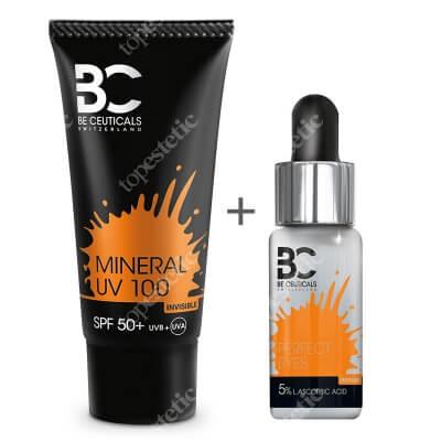 Be Ceuticals Perfect Eyes 5% L Ascorbic Acid + Mineral UV 100 SPF 50+ ZESTAW Idealne spojrzenie - Kwas Askorbinowy + Witamina E 15 ml + Krem mineralny z ochroną100 ml