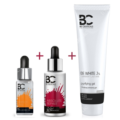 Be Ceuticals Zestaw Oczy 2019 ZESTAW Serum pod oczy + Całkowita odbudowa 30 ml + Peelingujący żel oczyszczający 150 ml