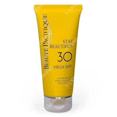 Beaute Pacifique Stay Beautiful - Sunscreen Face and Decollete SPF 30 Luksusowym krem do opalania twarzy i dekoltu 50 ml