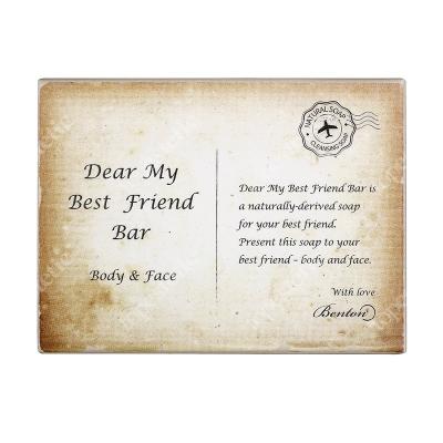 Benton Dear My Best Friend Bar Naturalne mydło oczyszczające dla każdego typu skóry 85 g