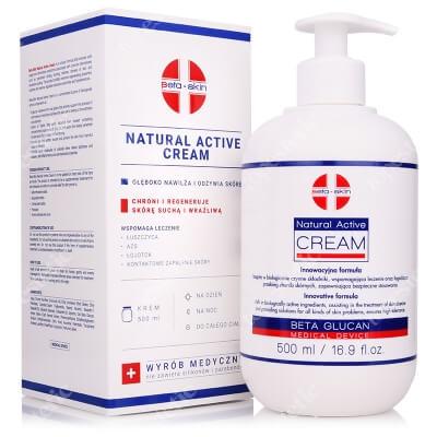 Beta Skin Natural Active Cream Krem łagodzący przebieg chorób skórnych 500 ml