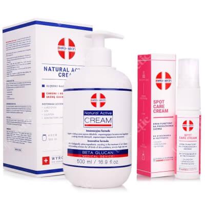 Beta Skin Natural Active Cream + Spot Care Cream ZESTAW Krem łagodzący przebieg chorób skórnych 500 ml + Krem punktowy na podrażnienia skórne 15 ml