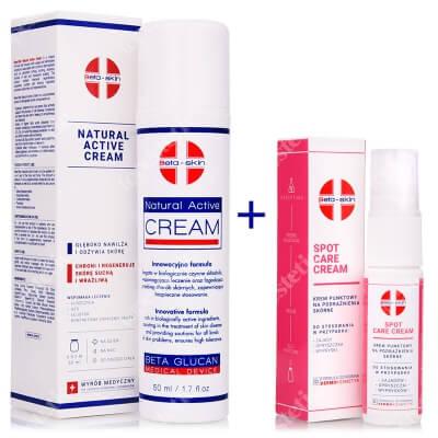 Beta Skin Spot Care Cream + Natural Active Cream ZESTAW Krem punktowy na podrażnienia skórne 15 ml + Krem łagodzący przebieg chorób skórnych 50 ml