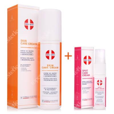 Beta Skin Spot Care Cream + Skin Care Cream ZESTAW Krem punktowy na podrażnienia skórne 15 ml + Krem do skóry podrażnionej i uszkodzonej 150 ml