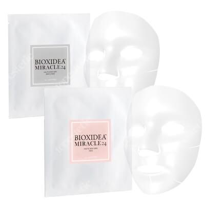 Bioxidea Miracle 24 Face Mask For Men + Miracle 24 Face Mask ZESTAW Maska na twarz dla mężczyzn 1 szt. + Maska na twarz nawilżająco - liftingująca 1 szt