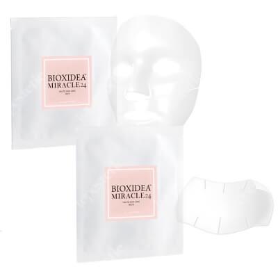 Bioxidea Miracle 24 Face Mask + Miracle 24 Neck Mask ZESTAW Maska na twarz nawilżająco - liftingująca 1 szt + Maska na szyję 1 szt.