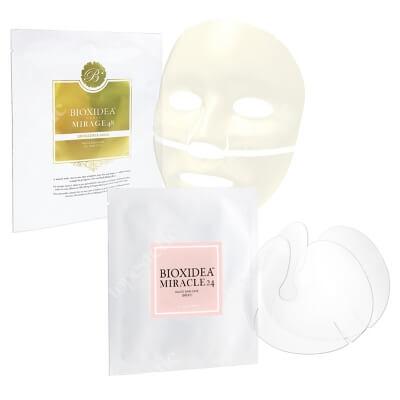 Bioxidea Mirage 48 Excellence Gold + Miracle 24 Breast Mask ZESTAW Maska na twarz nawilżająco - przeciwstarzeniowa 1 szt + Maska na biust 1 szt.