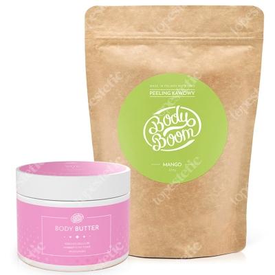 Body Boom Masło Antycellulitowe + Boskie Mango ZESTAW Masło + Peeling kawowy 200 g, 200 g