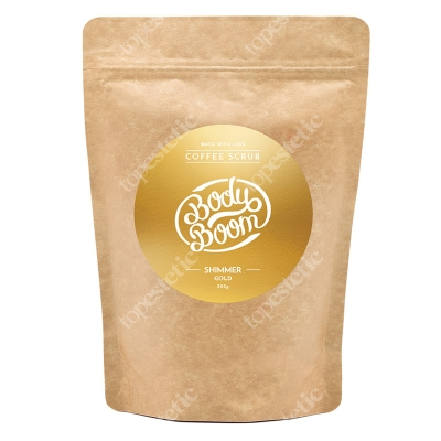 Body Boom Shimmer Gold Peeling kawowy błyskotliwy prowokator 200 g