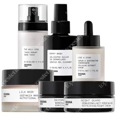 Bogna Skin Full Care New ZESTAW Krem na noc 30 ml + Krem na dzień 30 ml + Olejek do demakijażu 100 ml + Tonik 100 ml + Serum 50 ml + Maska 50 ml