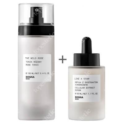 Bogna Skin Instant Glow New ZESTAW Tonik różany 100 ml + Serum z ekstraktem komórkowym 50 ml