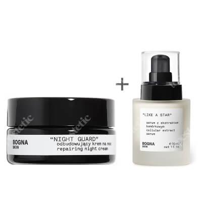 Bogna Skin Like a Star + Night Guard ZESTAW Serum z ekstraktem komórkowym 30 ml + Odbudowujący krem na noc 30 ml