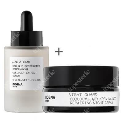 Bogna Skin Night Guard + Like a Star ZESTAW Odbudowujący krem na noc 30 ml + Serum z ekstraktem komórkowym 50 ml