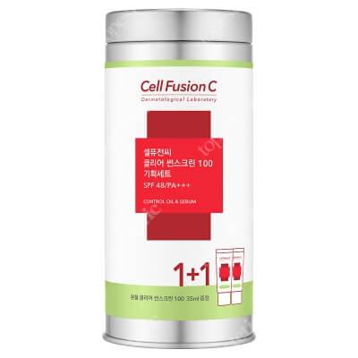 Cell Fusion C Clear Sunscreen 100 SPF 48 PA+++ ZESTAW Krem z ochroną przeciwsłoneczną do skóry problematycznej 2x35 ml