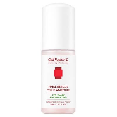 Cell Fusion C Final Rescue Syrup Ampoule Różowy syrop łagodzący podrażnienia 30 ml