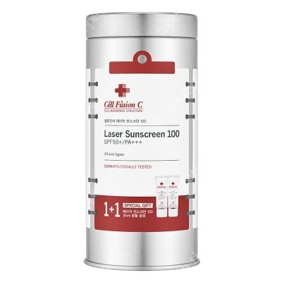 Cell Fusion C Laser Sunscreen 100 SPF 50+ PA+++ ZESTAW Krem z filtrem 2x 35 ml