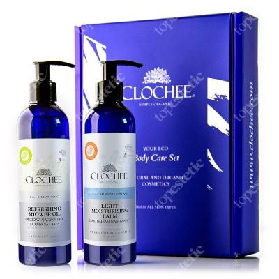Clochee Body Care Set ZESTAW Lekki balsam nawilżający 250 ml + Orzeźwiający olejek do ciała 250 ml