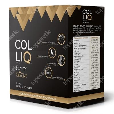 Colliq Colliq Beauty Suplement diety, naturalny kolagen z formułą SkinAx2, 14x10 g